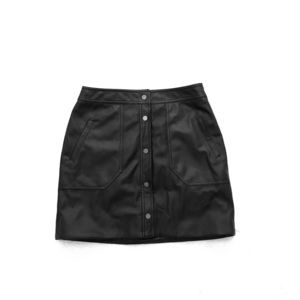 Trouve Faux Leather Button Down Skirt